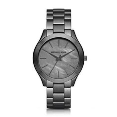 Michael Kors Women's Slim Runway Gunmetal Watch MK3413  #love @shoppevero @amazon #shoppevero
