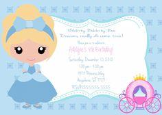 diy cinderella birthday invitations