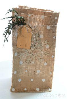 Small Burlap Gift Bags Tutorial How To Make Diy Bag Tutorials