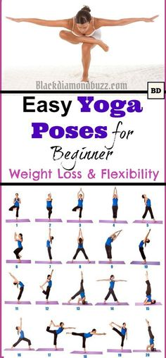 Easy Morning Yoga Poses for Beginner for Weight Loss and Flexibility at Home #YogaPoses