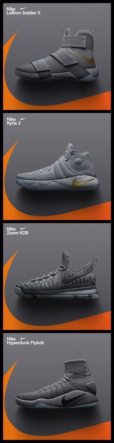 cheap for discount 0f024 d9199 Nike just dropped grey-on-grey colorways of the KD Kyrie Soldier and  Hyperdunk Available now. – New York City Fashion Styles