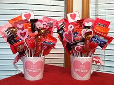 Valentine candy bouquet. Teacher gift
