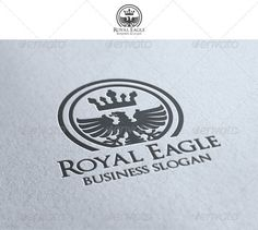 Royal Eagle  -  EPS Template • Only available here! ➝ https://graphicriver.net/item/royal-eagle/1409902?ref=pxcr