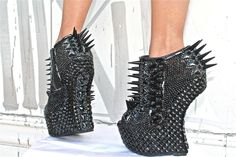The Dark Night Rises by the House of Face Los Angeles Leopard Shoes, Dark Night, Crazy Shoes, Pumps, Heels, Custom Shoes, Spikes, Shoe Collection, Leather Craft