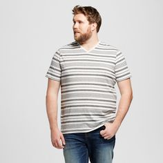 Men's Big & Tall V-Neck T-Shirt Casual Gray Xxlt - Mossimo Supply Co., Size: 2X Large Tall, Cast Iron Gray