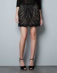 LACE SKIRT - Skirts - Woman - ZARA. would be perfect with tights. #alishopspinfest