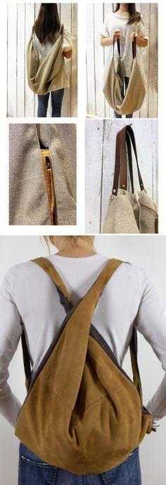 T.I.N.A. there is no alternative: Borsa multiuso in camoscio (riciclato) bicolore (F... | Progetti da provare | Bag, Sew bags and Crafty