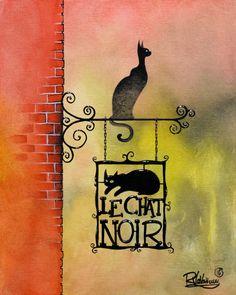 """Raphaël Vavasseur Art — """"THE BLACK CAT"""" www.raphaelvavasseur.gallery..."""