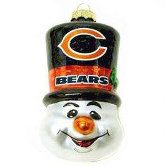 Make sure that your tree shows your love for the Bears with this Top Hat Ornament. The ornament is a snowman wearing a Chicago Bears Top Hat. Perfect addition for this Christmas! Chicago Movie, Chicago Map, Chicago Hotels, Chicago Restaurants, Hanging Ornaments, Christmas Tree Ornaments, Christmas Decorations, Chicago Christmas Tree, Chicago Bears Man Cave