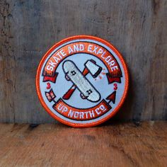 Skate and Explore Patch by UpNorthCo on Etsy