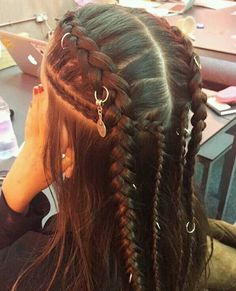 hippie hair 642466703076623470 - Trendy hair braids Source by Hair Inspo, Hair Inspiration, Curly Hair Styles, Natural Hair Styles, Hippie Hair, Gypsy Hair, Viking Hair, Braids For Long Hair, Short Braids