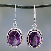 Discover unique handcrafted treasures. Every purchase will help UNICEF save and improve children's lives and help support talented artisans. Amethyst drop earrings, 'Dazzle'