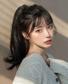 Korean Beauty Girls, Pretty Korean Girls, Cute Korean Girl, Asian Beauty, Asian Girl, Asian Men, Korean Girl Photo, Uzzlang Girl, Aesthetic Hair