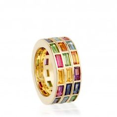 I love this 18ct yellow Fairtrade gold kinetic gemstone band ring from astleyclarke.com