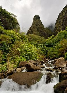 Iao Needle, in Iao Valley, Maui, Hawaii. It was so beautiful when I went there 14 years ago. I think it's time to go back!!