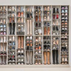 Diy home decor Coat Closet Organization, Closet Shoe Storage, Shoe Closet, Diy Shoe Organizer, Attic Closet, Shoe Racks, Ideas Armario, Laminate Flooring Colors, Shoe Room