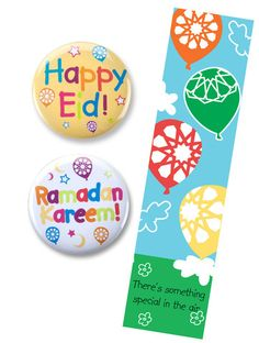 Party Souq - Flying High Eid Buttons and Bookmarks Bundle|20 pcs, $ 43.75