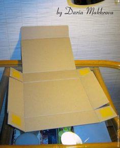 Сегодня я хочу вам показать элементарный способ создания коробки из картона по шаблону. Картон может быть любой плотности (только не переплетный, конечно). Размер коробки можно менять, увеличивая или уменьшая шаблон при распечатке на бумаге или переводя с экрана монитора. Таким образом, получаем один шаблон на все случаи жизни :) И для упаковки пары сережек, и для книги, и для игрушки, и для... Jar Crafts, Home Crafts, Diy And Crafts, Diy Gift Box, Diy Box, Hamper Boxes, Envelope Tutorial, Sweet Box, Picture Gifts