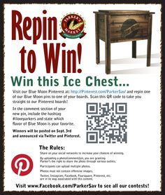 Blue Moon Cooler contest rules: Repin to Win!