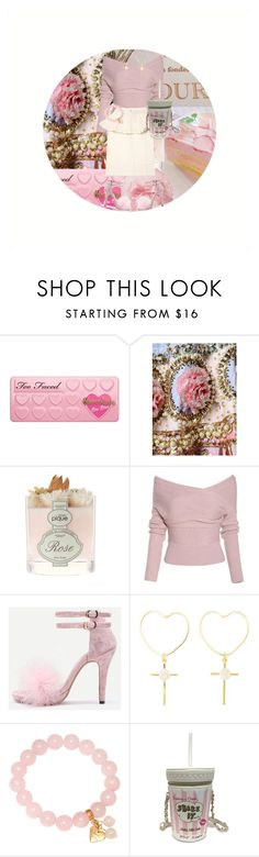 """Mad Honey"" by cuteghostie ❤ liked on Polyvore featuring Too Faced Cosmetics, Manish Arora, Adele Marie and Betsey Johnson"