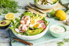 Se oppskriften her. Frisk, Fresh Rolls, Protein, Mango, Ethnic Recipes, Food, Summer Recipes, Meals, Yemek