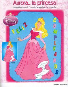 Moldes para Todo: = Letrero de la princesa Aurora =