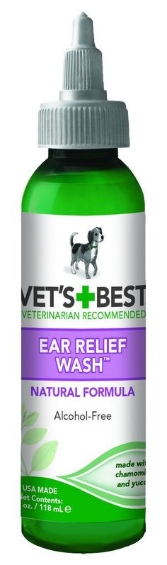 Vet's Best Ear Relief Wash for Dogs, 4 oz *** Startling review available here  : Dog supplies for health