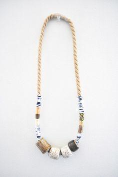 PRETTY MOMMY — Object & Totem Jess Four Bead Necklace $120
