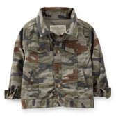 Snap up this easy to wear layer that will be his go-to jacket for school or play. Durable canvas is soft to wear and camo is so on-trend, too!