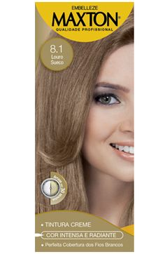 Tinte Permanente Profesional 8.1 Rubio Clarisímo natural Maxton Embelleze kit economico-60g+60ml