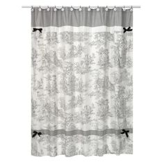 Sweet Jojo Designs Toile Shower Curtain - Black at Target. Maybe for hall bathroom? For the second bathroom- had to get it because it goes so well with the quilt in the quest bedroom