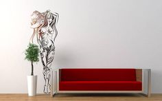 Woman with Sun Hat wall decal sticker for magical minds...