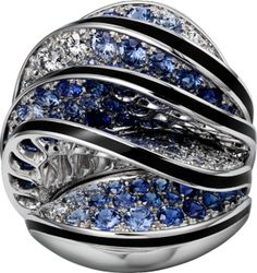 Paris Nouvelle Vague ring - White gold, diamonds, blue sapphires - Cartier