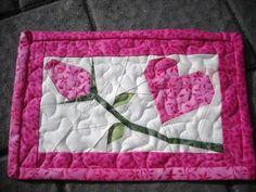 Valentine Mug Rug | valentine postcard mug rug | Flickr - Photo Sharing!