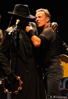 Bruce and Clarence Clemons, The Big Man.