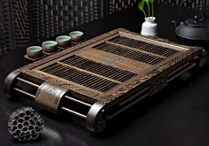 This Chinese classic tea tray has a retro style and unique shape. It is suitable for high-end classical places and creates a classical and elegant tea atmosphere. Tea Tray, Brewing Tea, Retro Style, Tea Set, Happy Hour, Chinese, Shape, Elegant, Wood