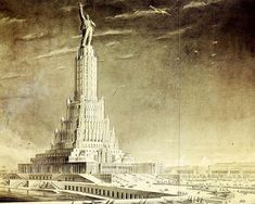 """The Palace of Soviets would have been the world's tallest structure at 100 meters high and crowned with a brightly lit hammer and sickle as a monument to Lenin on the site of the demolished Cathedral of Christ the Savior, if only the Nazis hadn't invaded in 1941, putting a stop to construction. Its steel frame was disassembled for use in fortifications and bridges, and its foundations served as the world's largest open-air swimming pool for a while before 1995 when the whole thing was…"