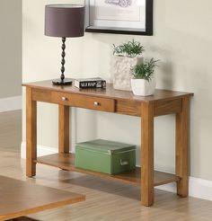 Coaster 701439 Traditional Sofa Table Oak New | $239.00