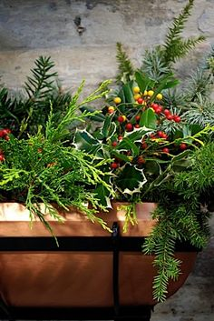 Winter Wonderland Window Box in City Planter Philadelphia// Albrecht Events, Philadelphia