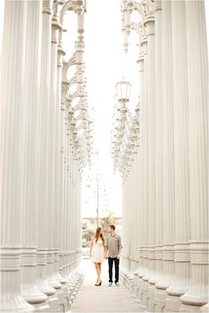 LACMA and Griffith Observatory Engagement Session from Eyelet Images // see more… Engagement Couple, Engagement Pictures, Engagement Shoots, Wedding Engagement, Lacma Lights, Griffith Observatory, Couple Shoot, Wedding Photoshoot, Orange County