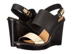 Calvin Klein Calvin Klein  Perdita Warm GoldBlack Box MetallicCow Silk Womens Wedge Shoes for 69.99 at Im in! #sale #fashion #I'mIn