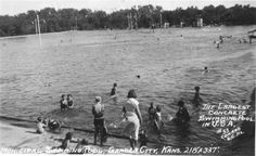 Largest concrete swimming pool, Garden City, between 1920 and 1939
