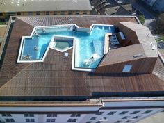 Swimming pool in roof top, Zurich | Interesting Pictures