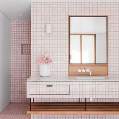 ELLE Decoration UK (@ELLEDecoUK ): Embrace order by laying square tiles in a maths book-style formation. Want more on-trend bathroom ideas?…