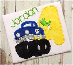 Monster Truck Birthday Shirt - Monster Truck - Boys Birthday Shirt- Birthday Shirt- Monster Truck Birthday - Personalized Birthday Shirt