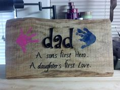 My sons fathers day gift from his kids.- My sons fathers day gift from his kids. My sons fathers day gift from his kids. Diy Father's Day Gifts To Make, Diy Gifts For Dad, Father's Day Diy, Daddy Gifts, Mom Gifts, Kids Gifts, Fathers Day Presents, Fathers Day Crafts, Fathers Gifts