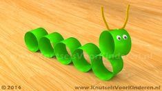 Rups van wc rol - Knutsels Voor Kinderen - Leuke Ideeën om te Knutselen met Duidelijke Uitleg