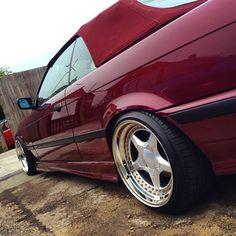 Calypsorot BMW cabrio on super rare 3 piece Eclair wheels Bmw E30 Convertible, Culture Album, E36 Cabrio, Eclair, Bmw 3 Series, Bmw Cars, Slammed, Bmw E36, 3 Piece