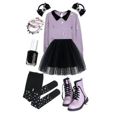 A fashion look from November 2014 featuring Chicwish skirts and Kreepsville 666 hair accessories. Browse and shop related looks.