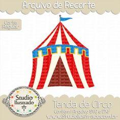 Circus Ring, Tenda de Circo, Picadeiro, Circo, Circus, Corte Regular, Regular Cut, Silhouette, DXF, SVG, PNG